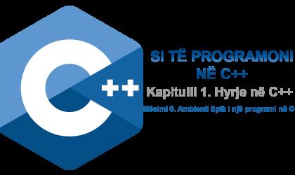 1.6. Ambienti tipik i një programi C++