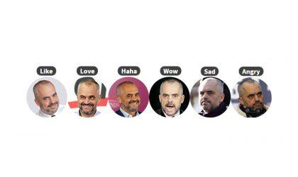 Si t'i zëvendësoni reagimet e Facebook me emoji-t e Edi Rama-s