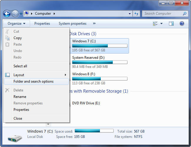 open-folder-options-dialog-on-windows-7 fshihni