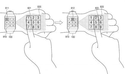 """Samsung patenton një """"smartwatch"""" e cila projekton imazhe në dorë"""