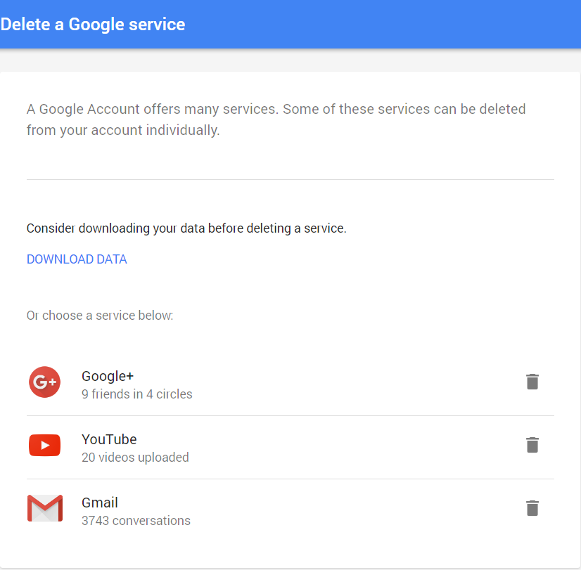 Delete Google Services