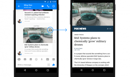 Messenger tani mbështet Instant Articles