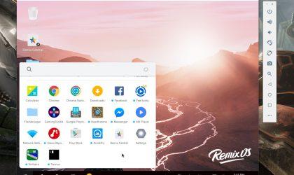 Remix OS tani është në dizpozicion si një emulator Android për Windows