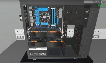 Tani ekziston një lojë në të cilën ju mund të ndërtoni PC-në tuaj për lojra